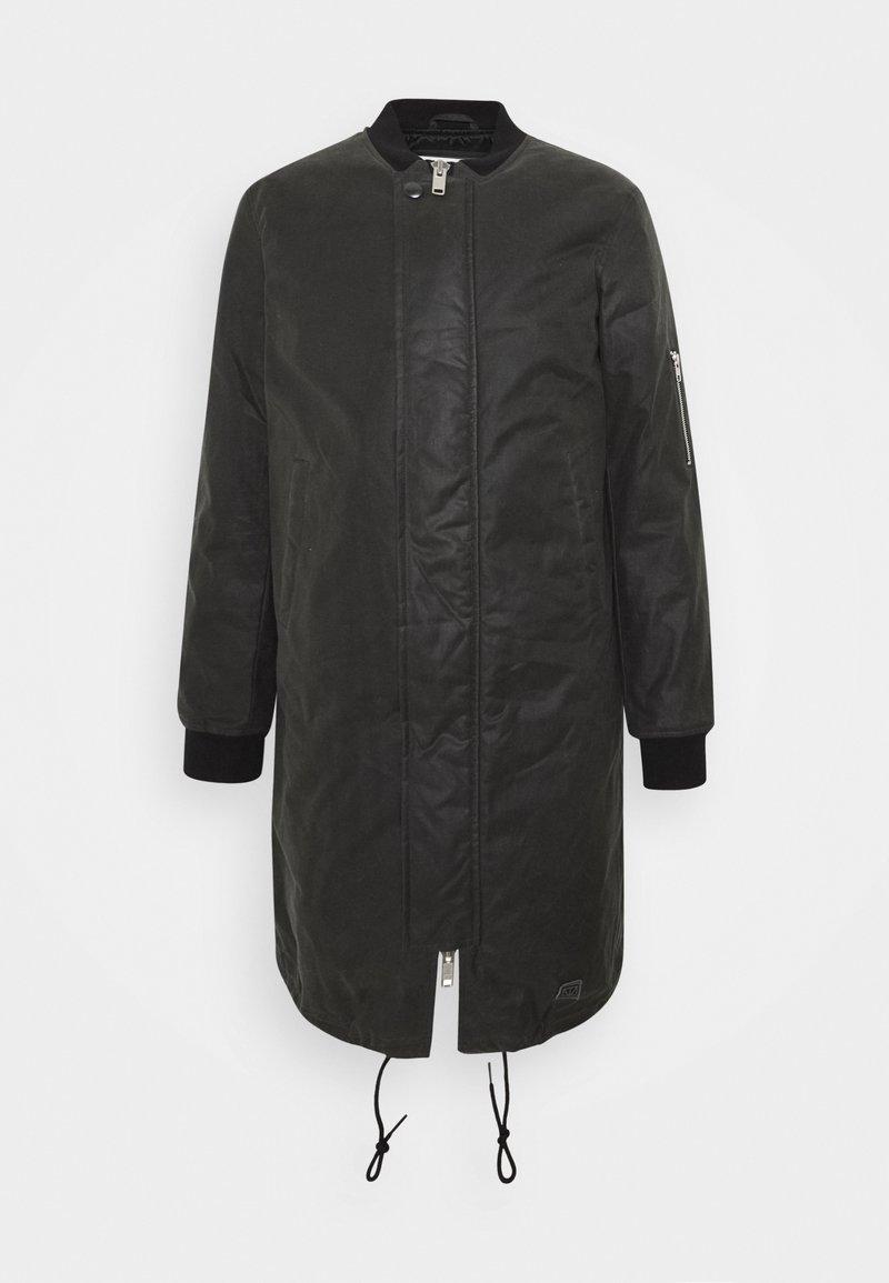 Brixtol Textiles - D.W BOMBER - Krátký kabát - grey