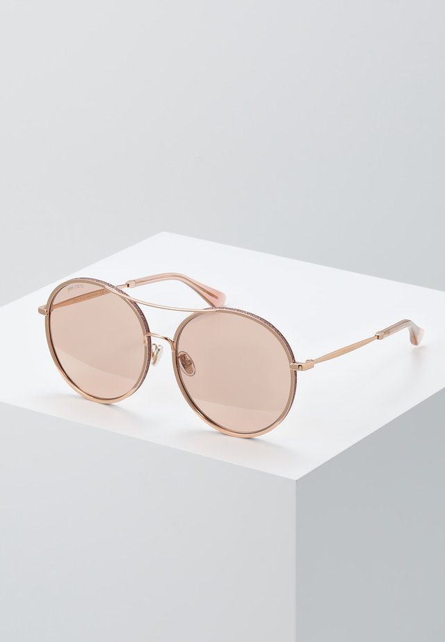 LENI - Sunglasses - gold coloured/pink