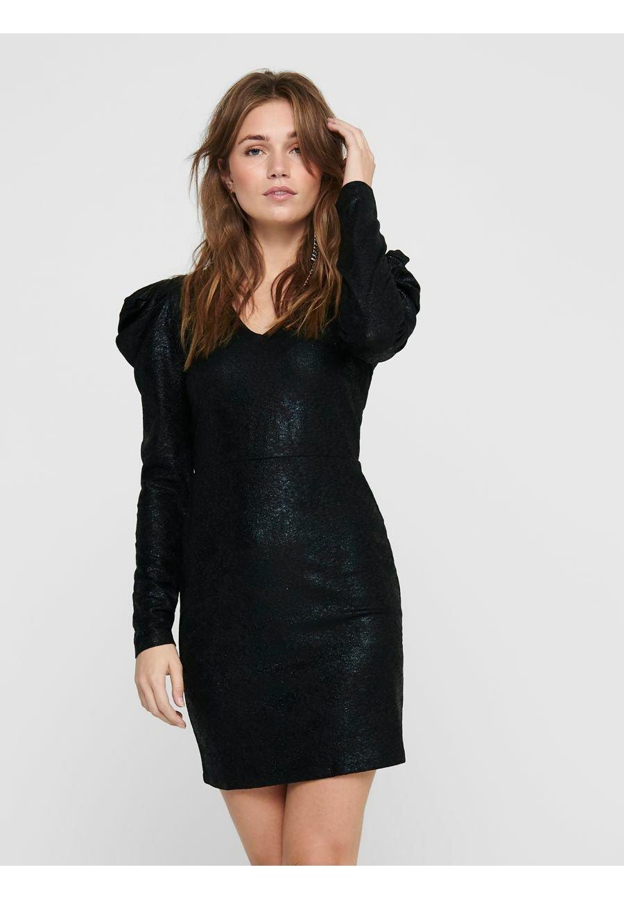 Mujer JDYMISSY PUFF SLEEVE DRESS - Vestido de tubo - black