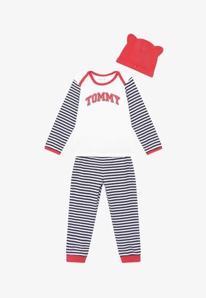 BABY STRIPED GIFTPACK SET - Trousers - blue