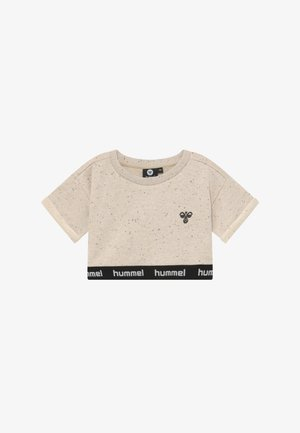 CROPPED - T-shirt imprimé - cement