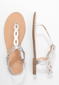 PARFOIS - T-bar sandals - silver - 3