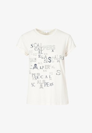 LETTERING - T-shirt z nadrukiem - ecru
