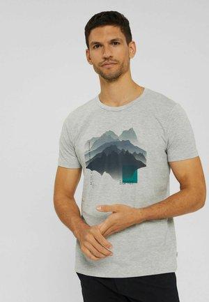 REGULAR FIT - Print T-shirt - light grey