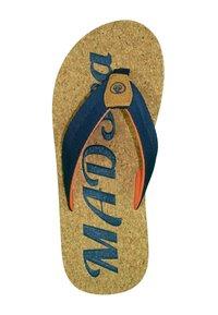 MADSea - T-bar sandals - kork/dunkelblau/orange - 1