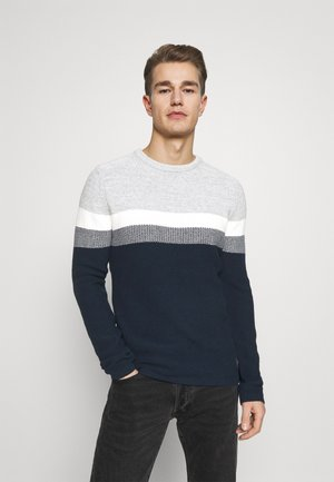 HANSI ROUND NECK - Trui - grey-navy