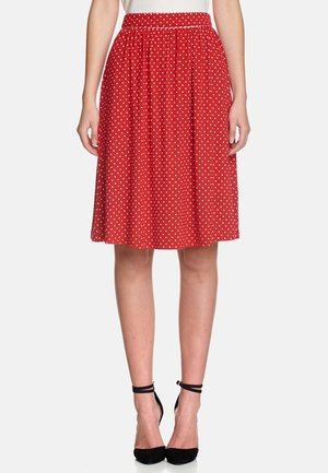 Monaco  - Pleated skirt - red