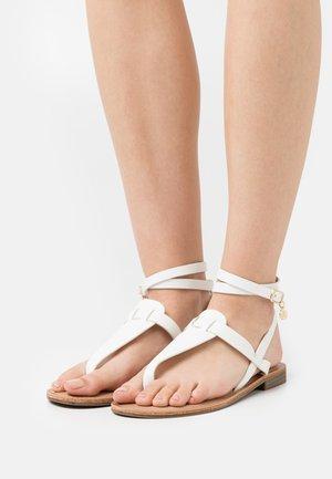 T-bar sandals - soft bianco