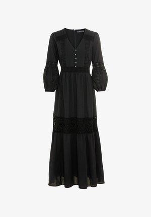 MIT LOCHSPITZE - Maxi dress - schwarz