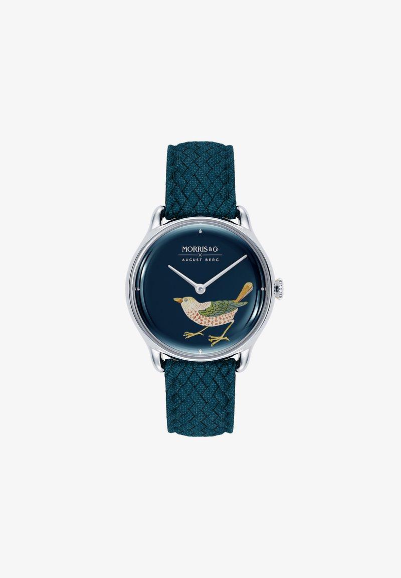 August Berg - UHR MORRIS & CO SILVER BIRD INDIGO PERLON 30MM - Watch - indigo