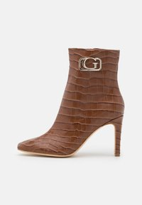 BEVELYN - High heeled ankle boots - brown
