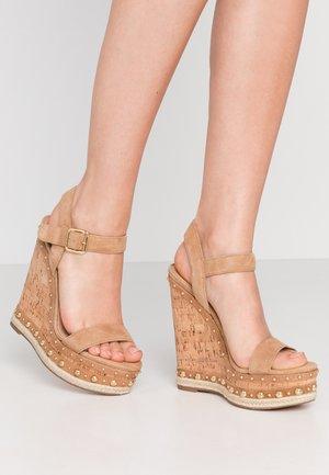 MAURISA - High heeled sandals - tan