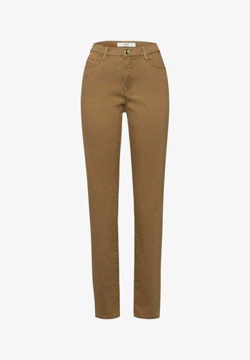 STYLE CAROLA - Straight leg jeans - dark camel