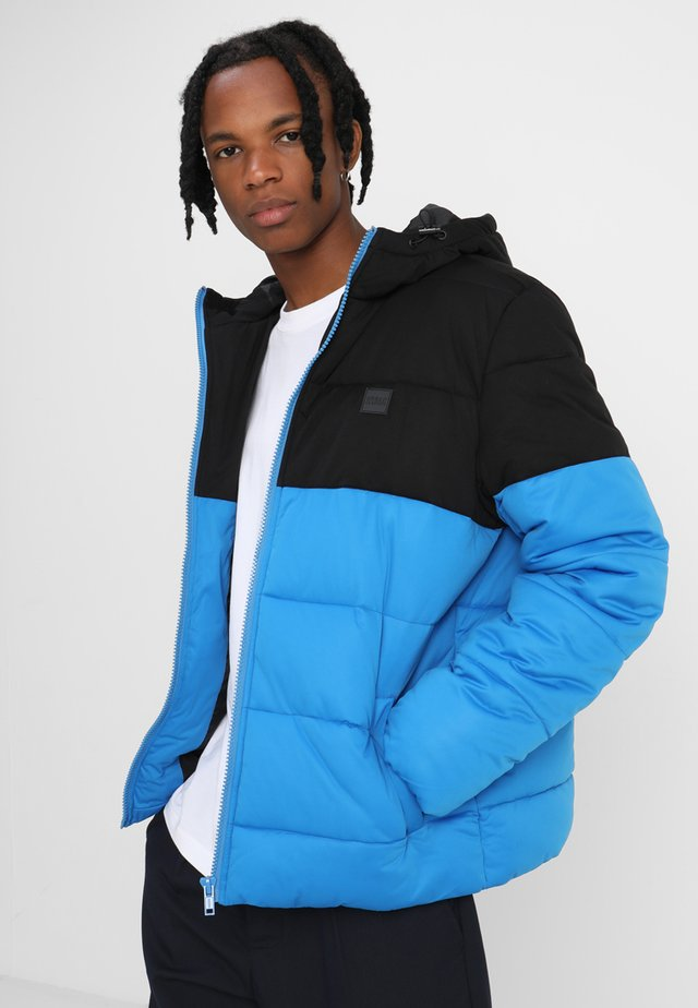 2 -TONE PUFFER  - Winter jacket - bright blue/black