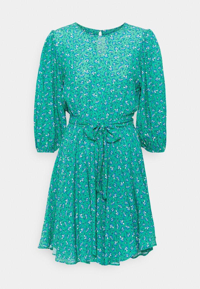 Mavi - LONG SLEEVE - Day dress - holly green print