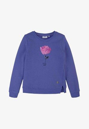 MIT PAILLETTENMOTIV - Sweater - iris bloom blue