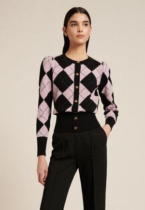 Cardigan - nero/rosa/geometrico
