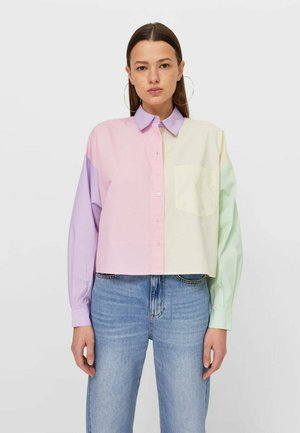 Button-down blouse - multi-coloured
