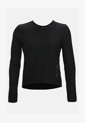 RUN ANYWHERE CROPPED - Sports shirt - black