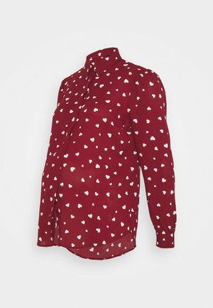 HEART - Button-down blouse - red