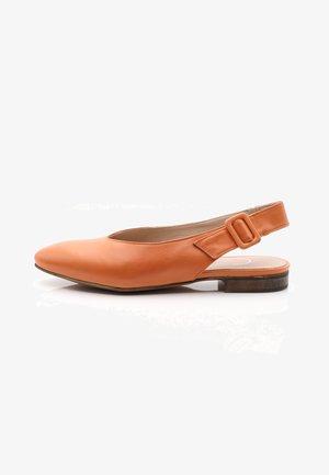 Slingback ballerina´s - orange