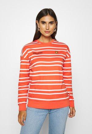 STRIPED - Sweatshirt -  orange