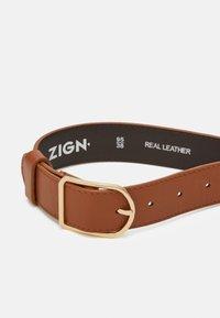 Zign - LEATHER - Pásek - cognac - 2