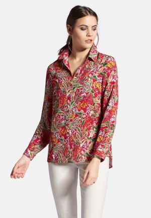 MIT HEMDKRAGEN - Button-down blouse - multi-coloured