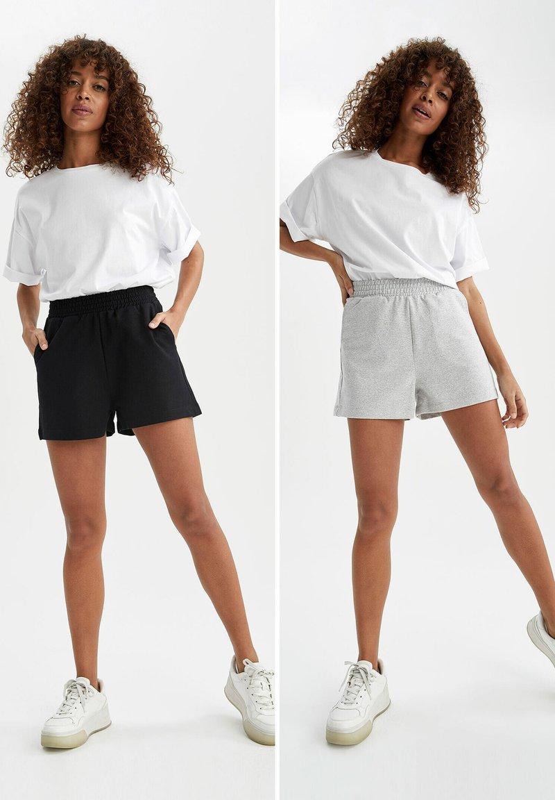 DeFacto - 2 PACK - Shorts - black