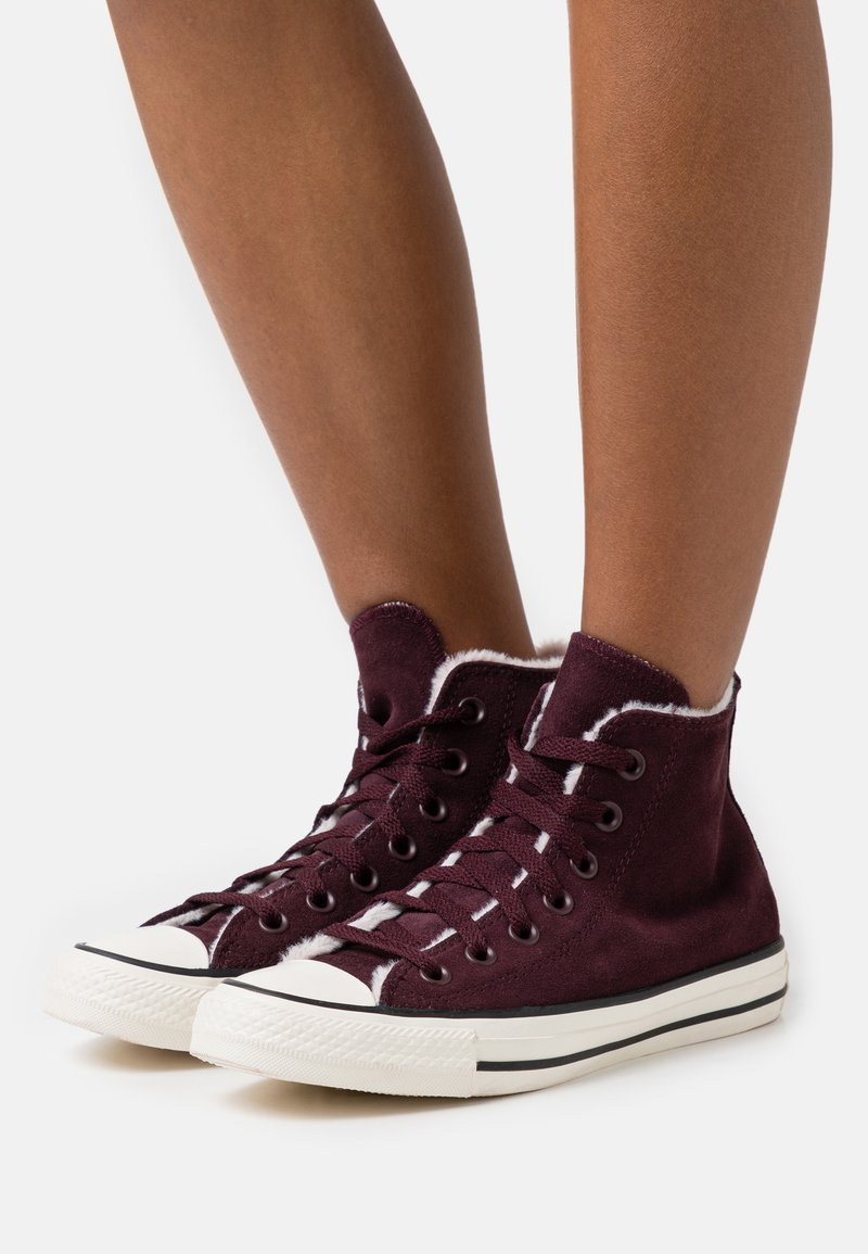 Converse - CHUCK TAYLOR ALL STAR  - Baskets montantes - black currant/silt red/egret