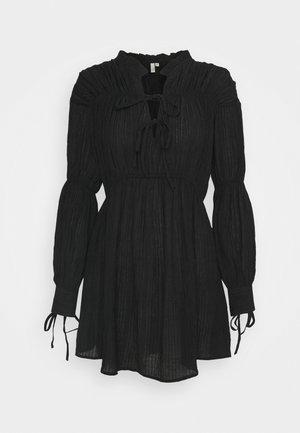 VOLUME STRUCTURED DRESS - Day dress - black