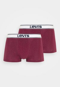 Levi's® - MEN TRUNK VINTAGE HEATHER 2 PACK - Panties - red - 3