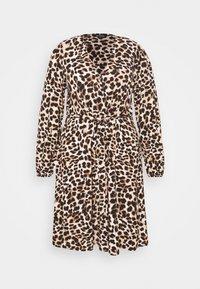 Evans - FRILL DRESS - Robe en jersey - beige/black - 3