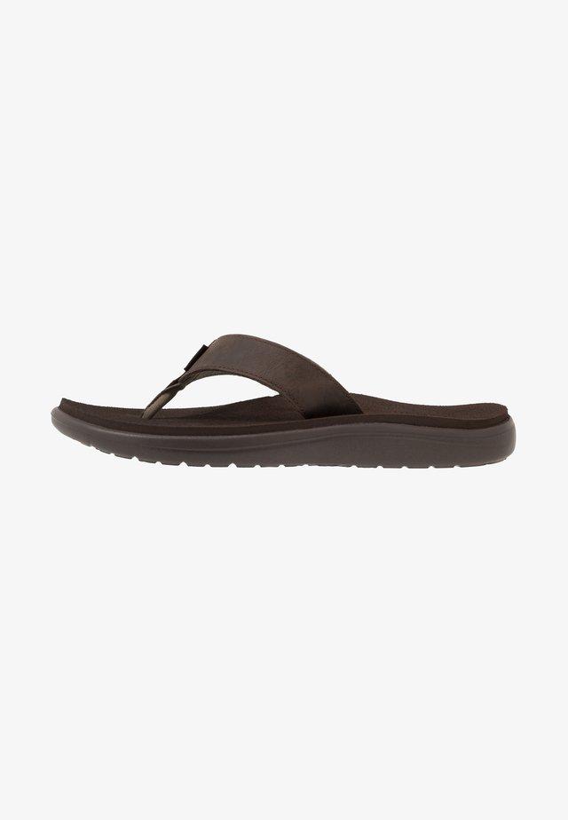 VOYA FLIP MENS - Sandály s odděleným palcem - chocolate brown
