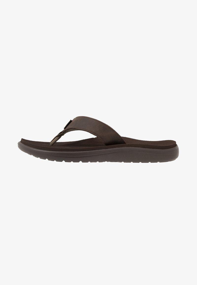 Teva - VOYA FLIP MENS - Sandály s odděleným palcem - chocolate brown