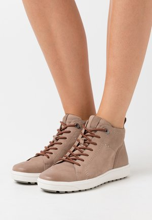 High-top trainers - taupe