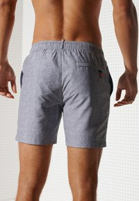 Superdry - POLO SWIM - Swimming shorts - silver grey grit - 2
