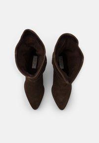 Steven New York - JANE - Vysoká obuv - cognac - 5