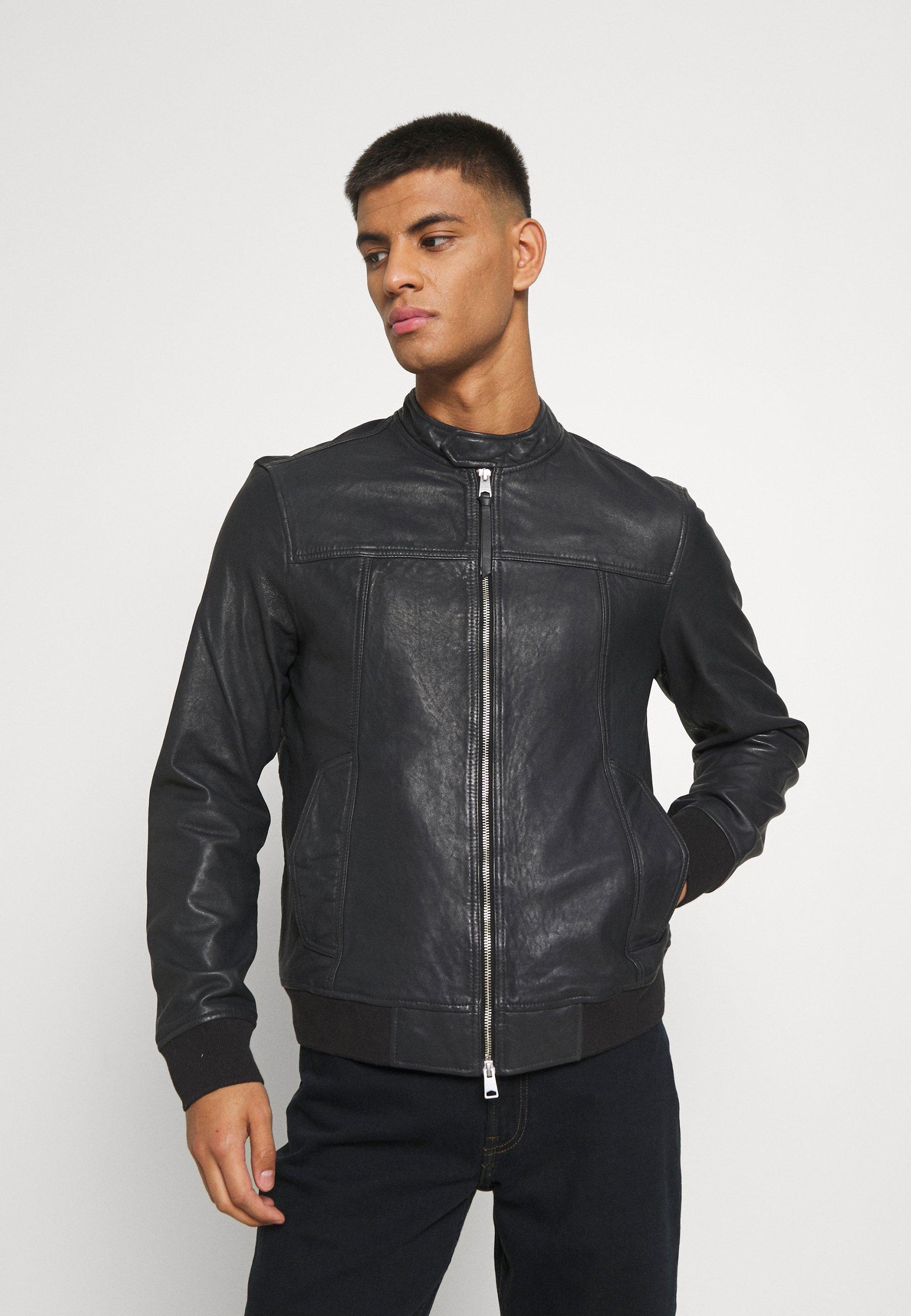 Men HALLOW - Leather jacket