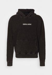CARPE DIEM HOODIE - Sweatshirt - washed black