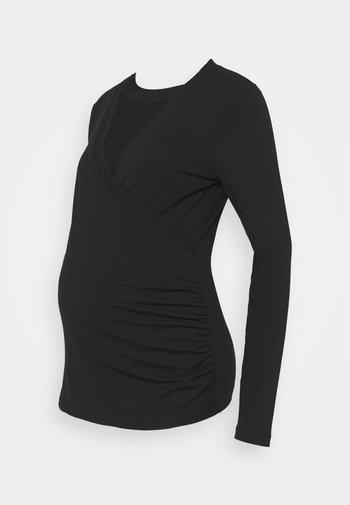 NURSING CROSSOVER - Bluzka z długim rękawem - true black