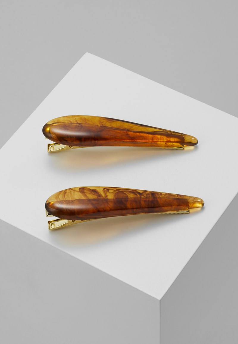 Topshop - AMBER SLIDE 2 PACK - Hair styling accessory - brown