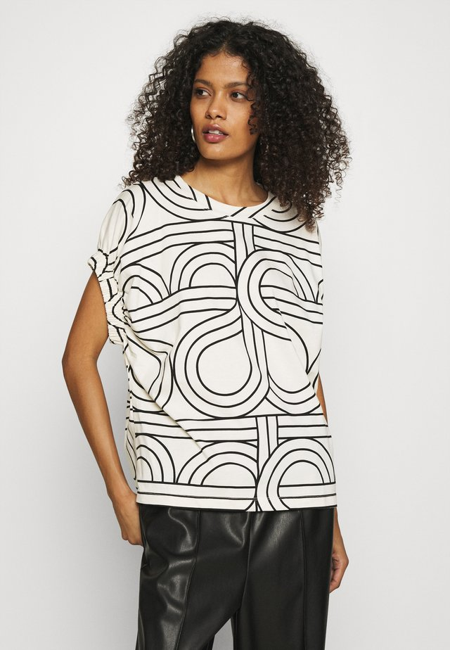 OSLO TEE - T-shirt imprimé - bright white