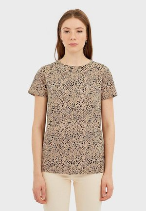 BASIC-SHIRT 02500517 - T-shirt imprimé - brown