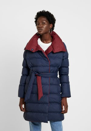 PADDED WRAP COAT - Winter coat - navy
