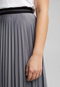 Esprit - A-line skirt - gunmetal - 5