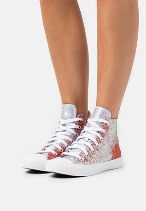 CHUCK TAYLOR ALL STAR SHIMMER AND SHINE - Sneaker high - fire pit/himalayan salt/white