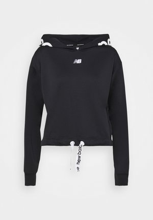 RELENTLESS CINCHED HEM HOODIE - Collegepaita - black