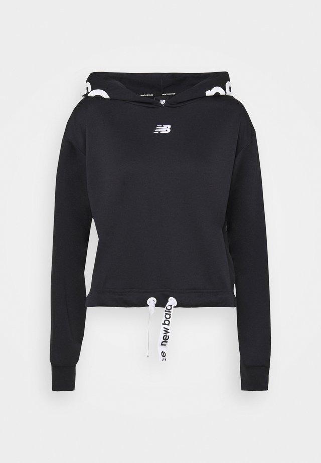 RELENTLESS CINCHED HEM HOODIE - Sweater - black