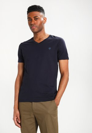 BASIC V-NECK - T-paita - navy